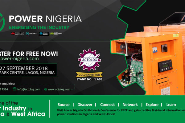Actolog Exhibits at Power Nigeria 2018